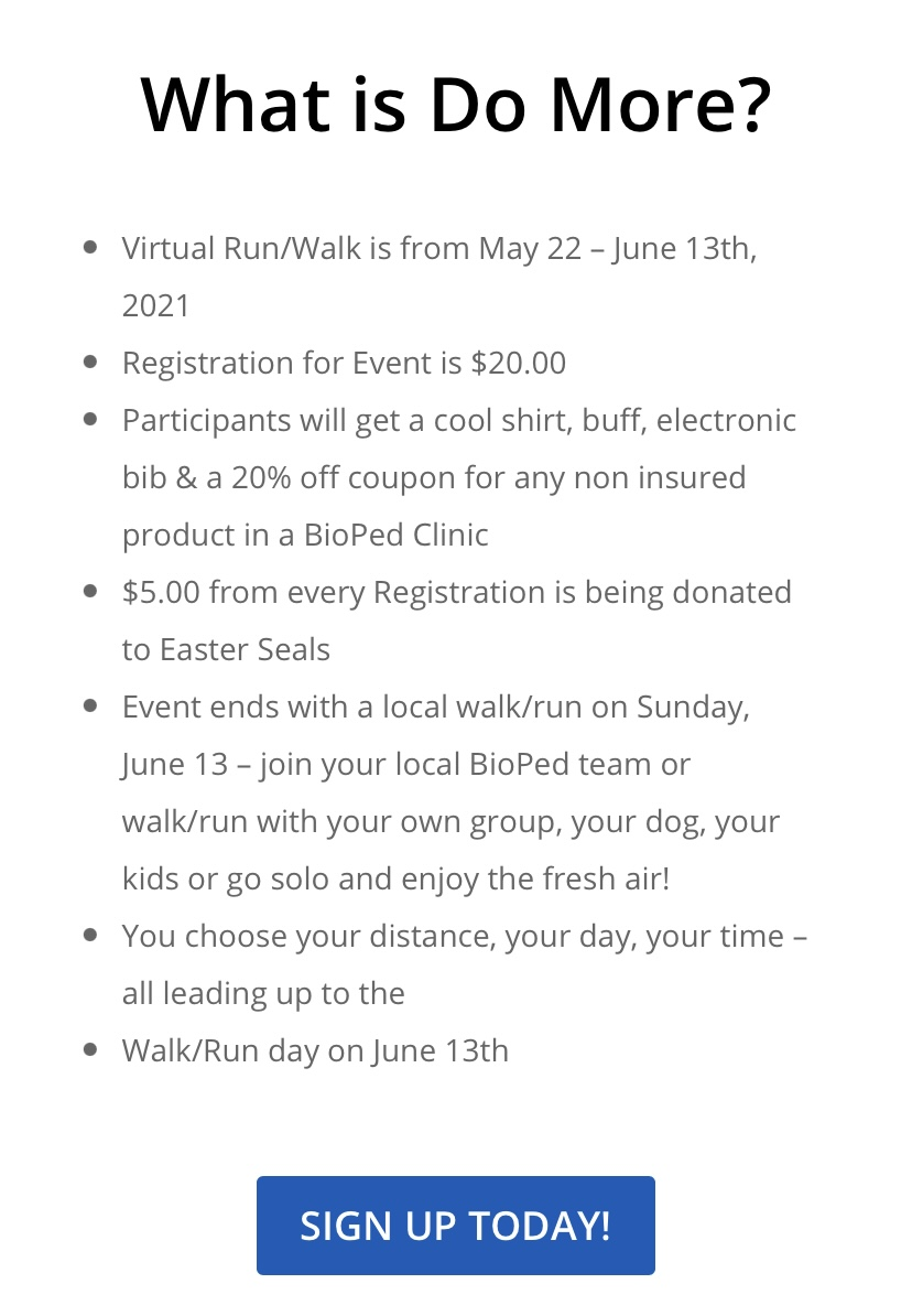 information on how to sign up for do more walk